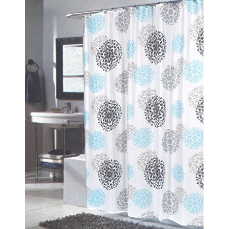 BenandJonah Collection Fabric Extra Long Shower Curtain 70 X 84 Floral