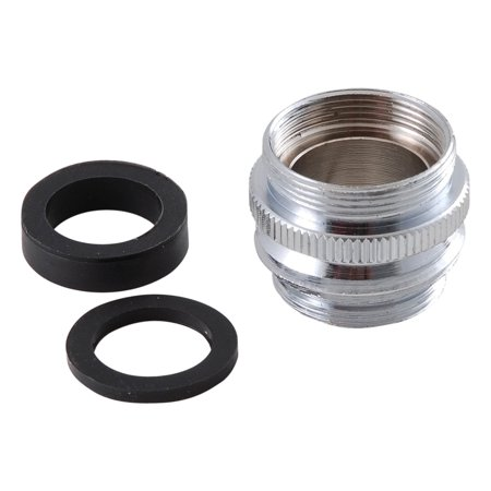 Faucet Aerator Adapters - LDR 500 2050 Aerator Adapter, Faucet to Hose to Aerator, Chrome finish By LDR Industries