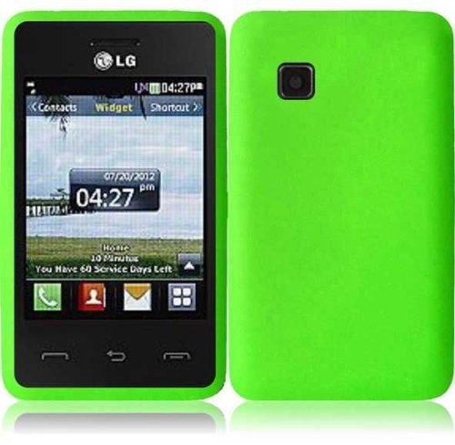 Silicone Skin Case for LG 840G - Green