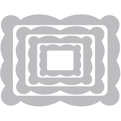 Sizzix Framelits Die Set, Scallop Frame Rectangle