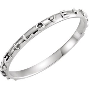 Jewels By Lux 14k White Gold True Love Chastity Ring with Packaging Size 7 Size 7