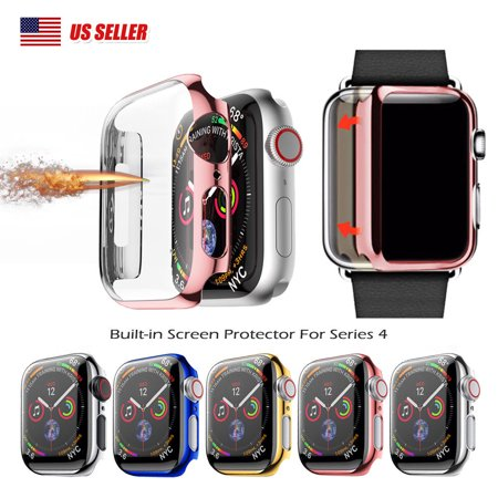For Apple Watch Series 4 44mm Full Body Cover Snap-on Case With Screen Protector Black