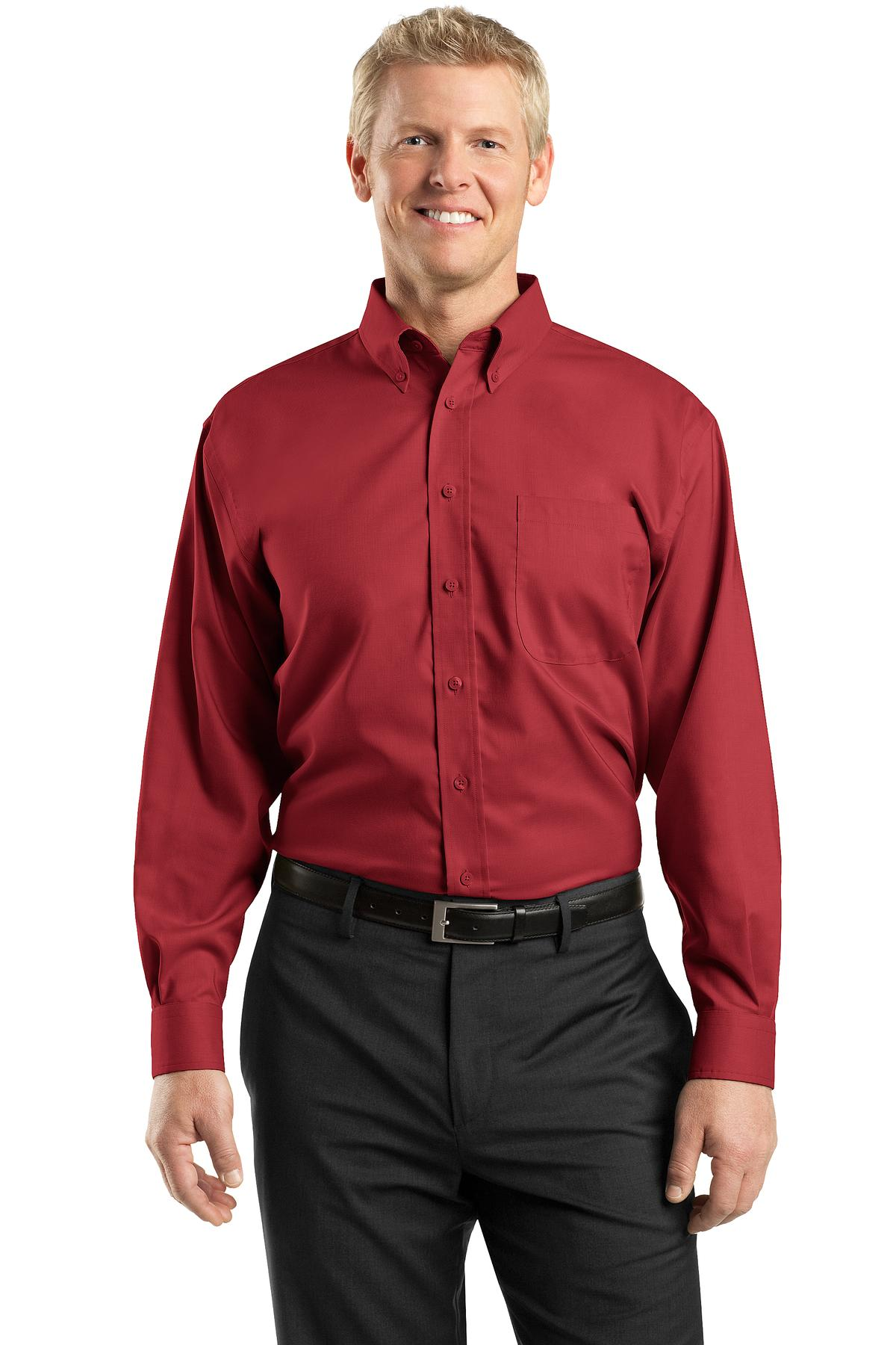 Red House Mens Tall Nailhead Non-Iron Button-Down Shirt