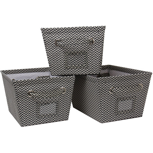 Mainstays Medium Canvas Bins, 3pk