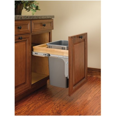 Rev A Shelf Top Mount 8 75 Gallon Pull Out Under Counter Trash Can Walmart Com Walmart Com