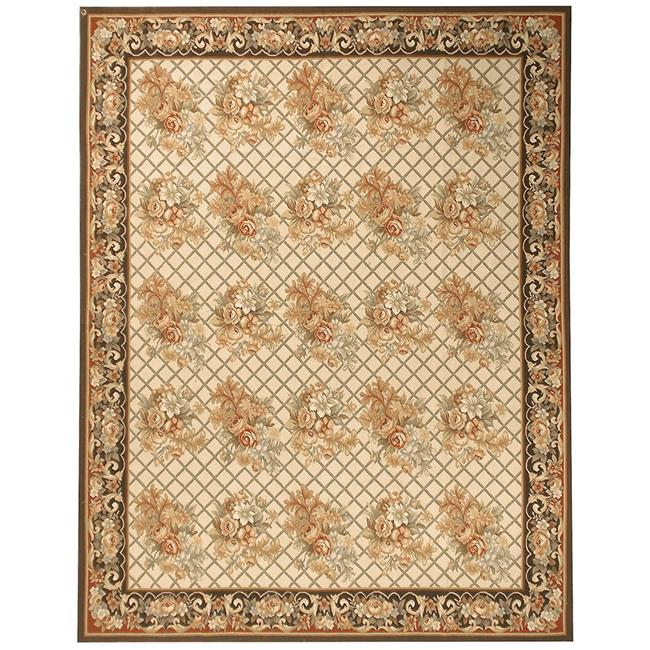Due Process Stable Trading Aubusson Lyon Ivory & Charcoal Square Area Rug, 6 x 6 ft. - image 1 of 1
