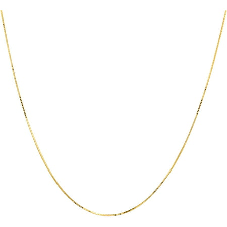 Simply Gold 10Kt Yellow Gold  7Mm Box Chain  20