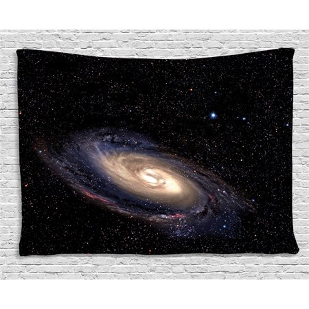 Galaxy tapestry spiral universe in a field of stars for Space themed tapestry