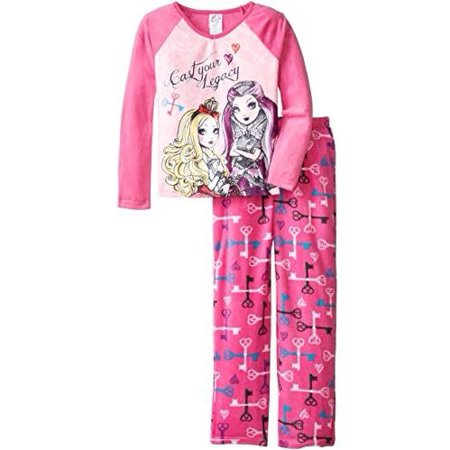 Ever After High Big Girls'  Cozy Fleece Pajama Set (Girls Pajamas Size 16)