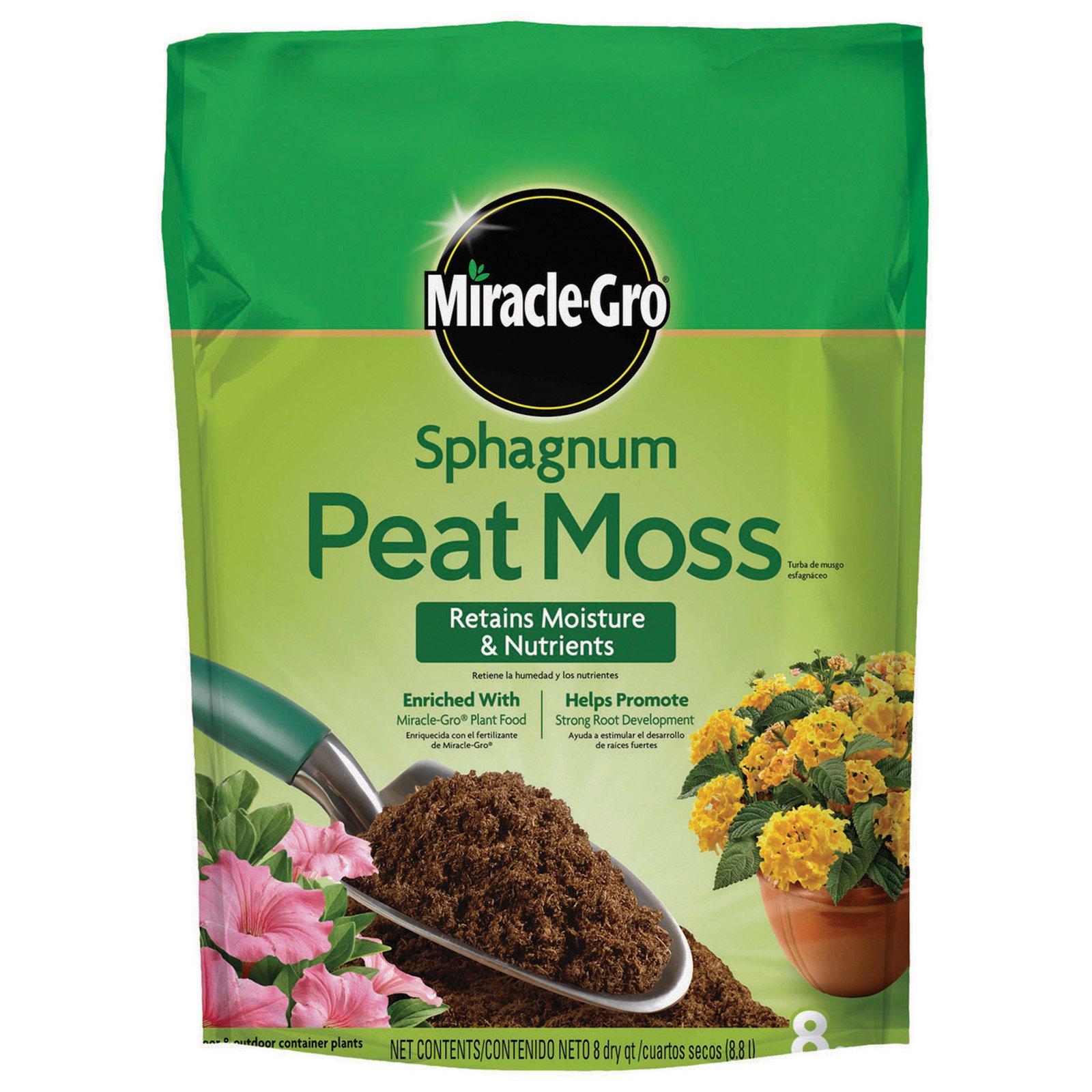 Miracle-Gro Sphagnum Peat Moss, 8 qt