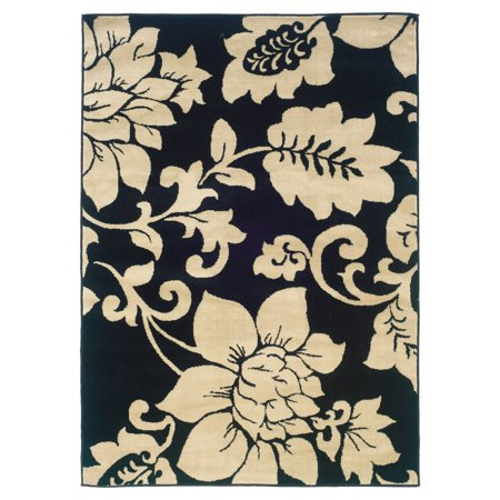 Home Expressions Floral Orchid Area Rug, Ivory ()
