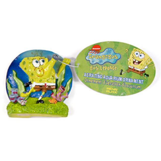 Penn Plax SBAR1 Spongebob Blowing Bubbles Aerating Ornament
