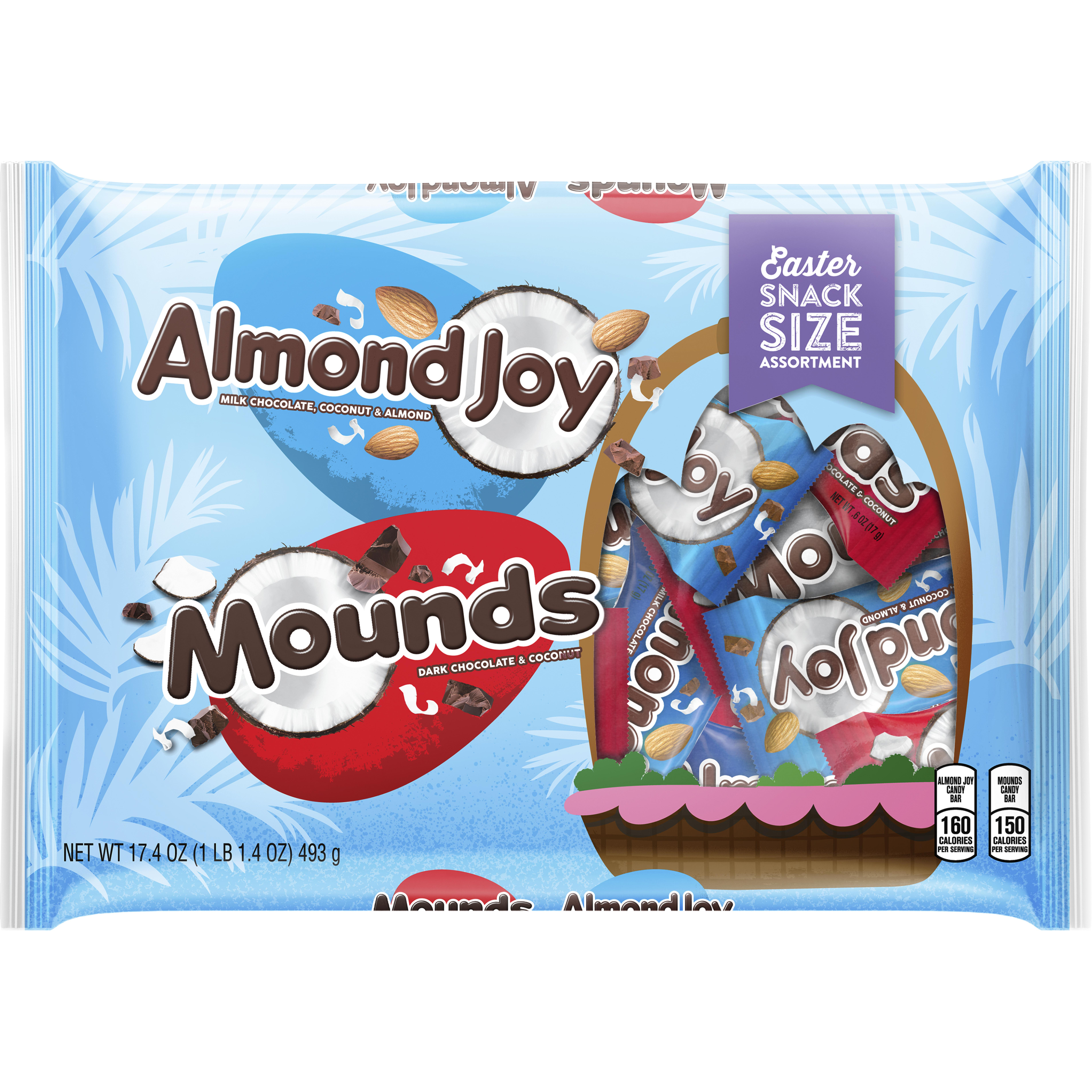 MOUNDS and ALMOND JOY Snack Size Candies, 17.4 oz