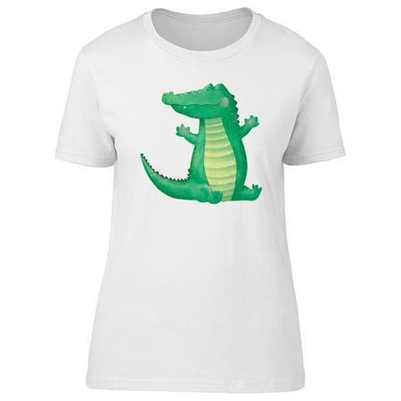 Cute Cartoon Crocodile Animal Tee Women
