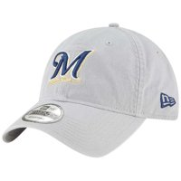outlet store 77d6b ac1bd Product Image Milwaukee Brewers New Era Core Classic Twill 9TWENTY  Adjustable Hat - Gray - OSFA