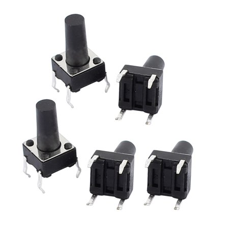 5Pcs 6mmx6mmx11mm Panel PCB Momentary Contact Push Button Switch 4 Terminals