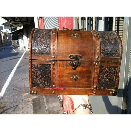 LAMINATED POSTER Jewel Case Treasure Box Wood Old Casket Box Poster Print 24 x 36