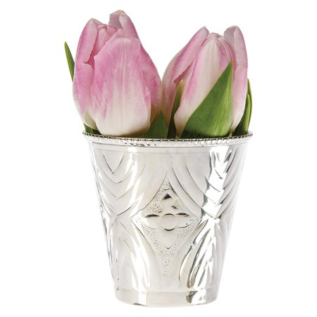 Mint Julep Cup (2.75-Inch, Maya Design Silver Plated Solid (Silver Plated Solid Brass)