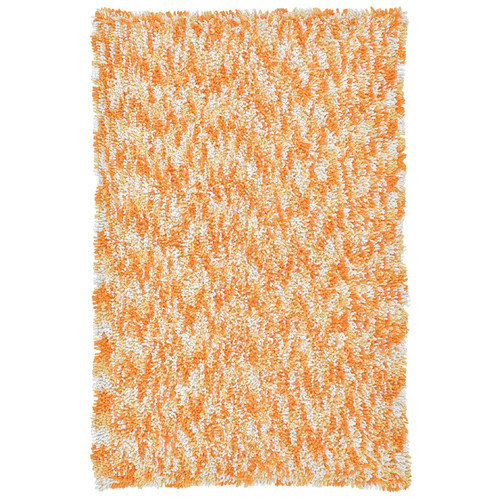 St. Croix Shagadelic Orange Twist Swirl Shag Area Rug