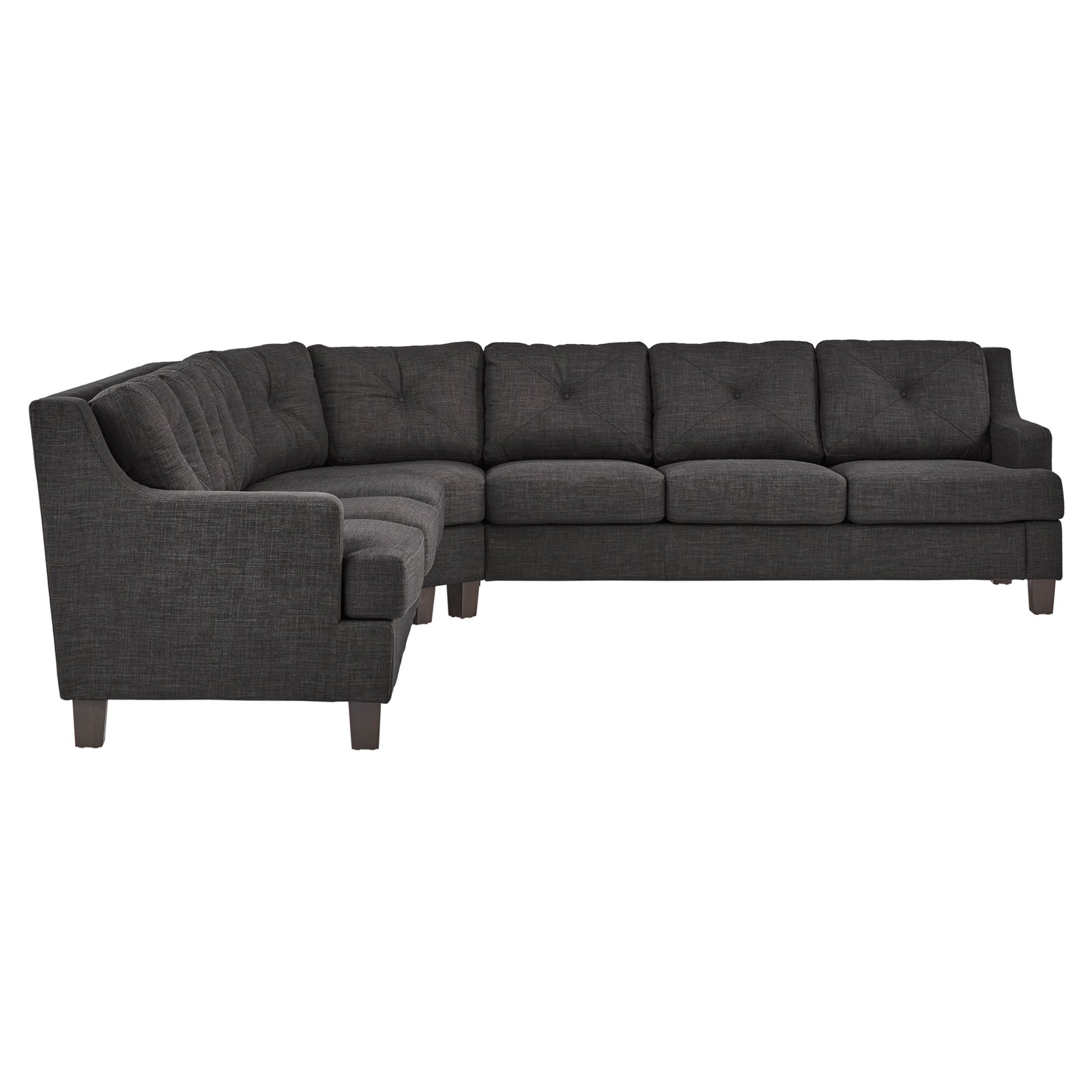 Weston Home Breame Removable Cushion Long 5 Seat L-Shaped Sectional Sofa