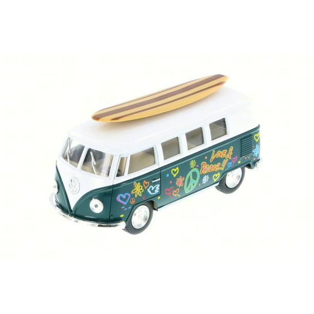 1962 Volkswagen Classic Bus W/ Surfboard & Decals, Green