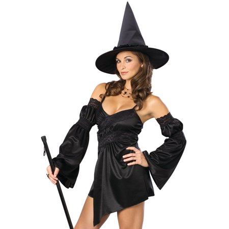 Sexy Enchanted Cauldron Wicked Witch Halloween Fancy Party Womens Costume - Plastic Witch Cauldron