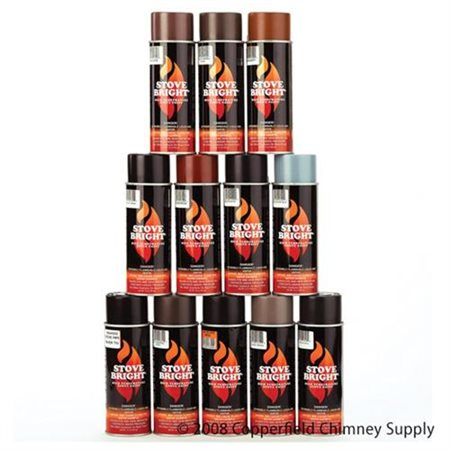 Forrest Paint 6195 1200- Wood Stove High Temp Paint - Mahogany