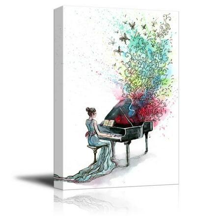 "Canvas Prints Wall Art - Grand Piano Music (Series C) - 12"" x 18"""