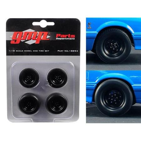 1 isto 18 Wheels & Tires from 1993 Ford Mustang Cobra 1320 Drag Kings King Snake, Set of 4