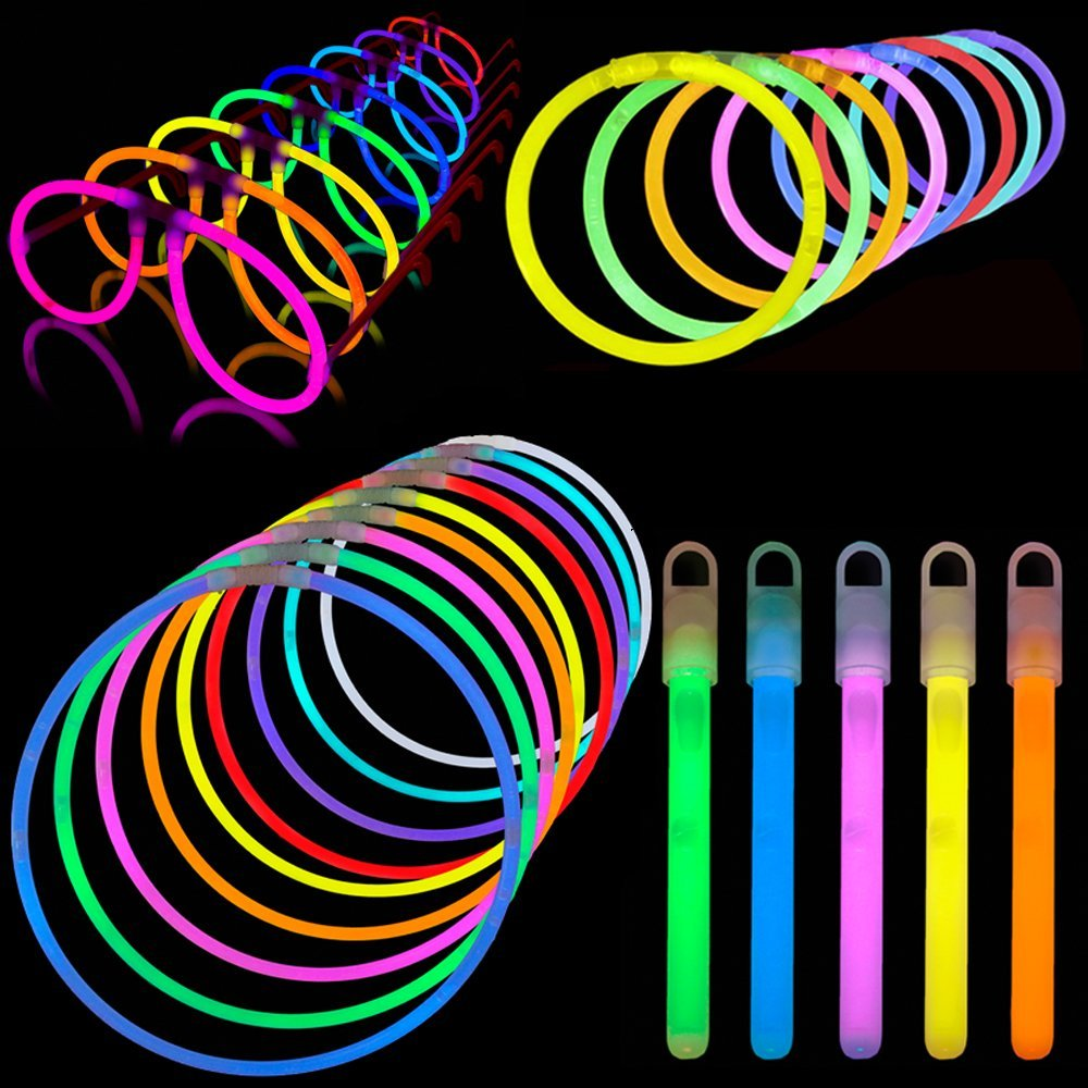 Lumistick Glow Sticks Variety Pack of Glowing Party Favors Includes Necklaces, Bracelets and Glasses (200 Pieces)
