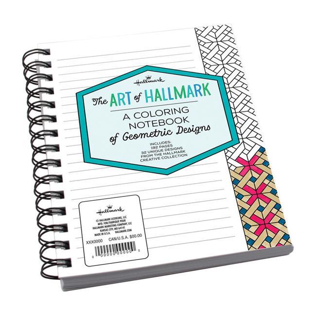 Hallmark 6384788 Candyland Geometric Notebook- pack of 4 - image 1 de 1
