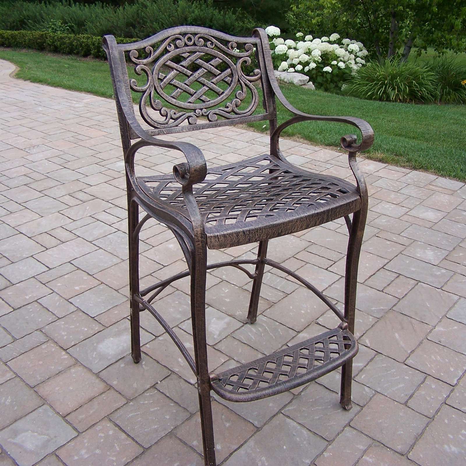 Oakland Living Mississippi Cast Aluminum Outdoor Bar Stool