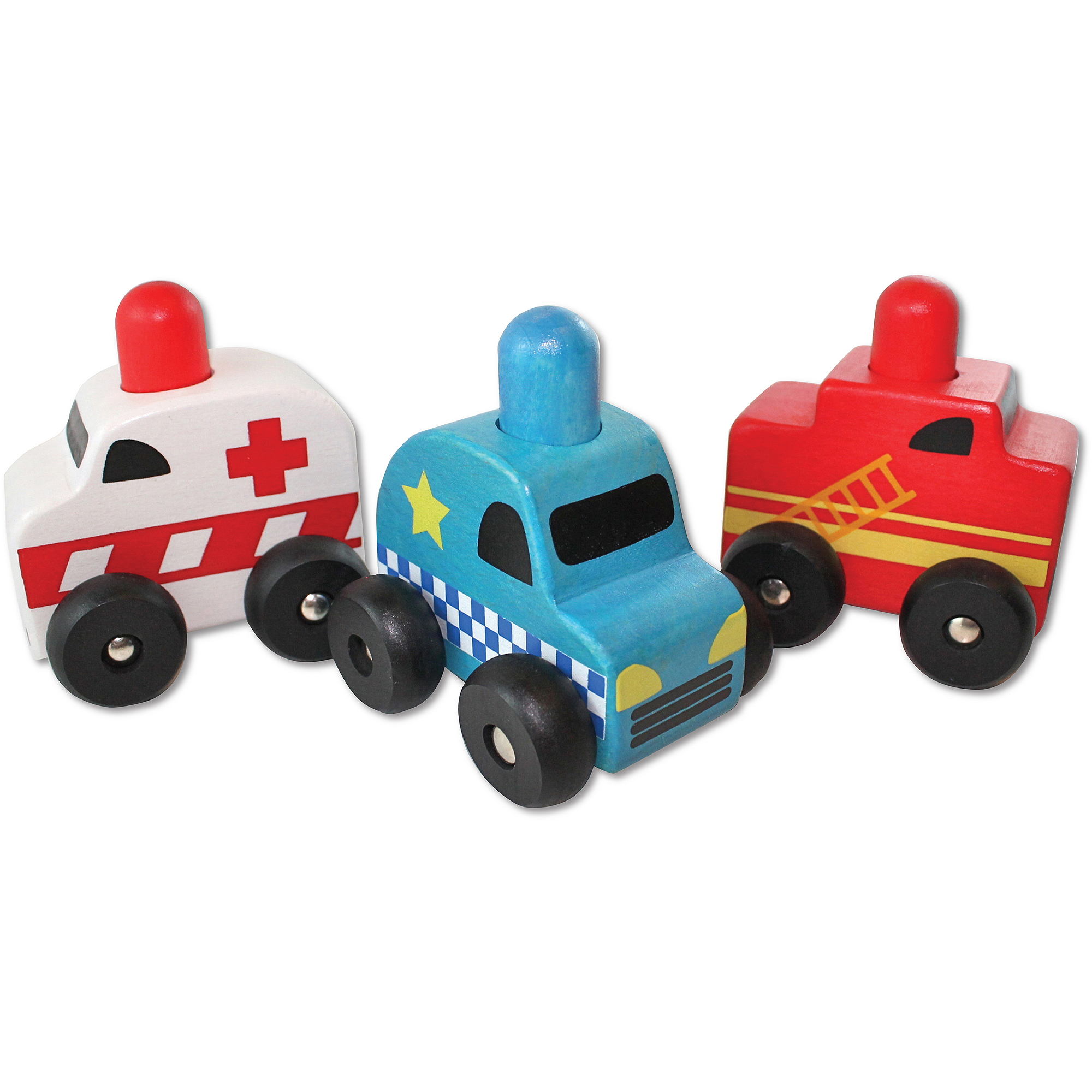 Discoveroo Squeaker Emergency Toy Cars