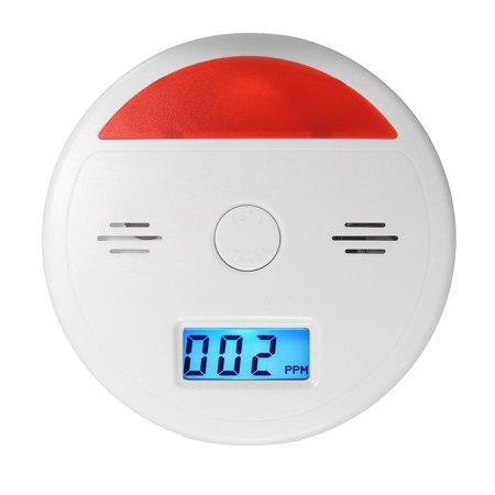 2 In 1 Battery Operated LCD Carbon Monoxide & Smoke Alarm / CO Carbon Monoxide Detector Fire Sensor Alarm Sound Combo Sensor Tester with Digital Display - image 2 of 10