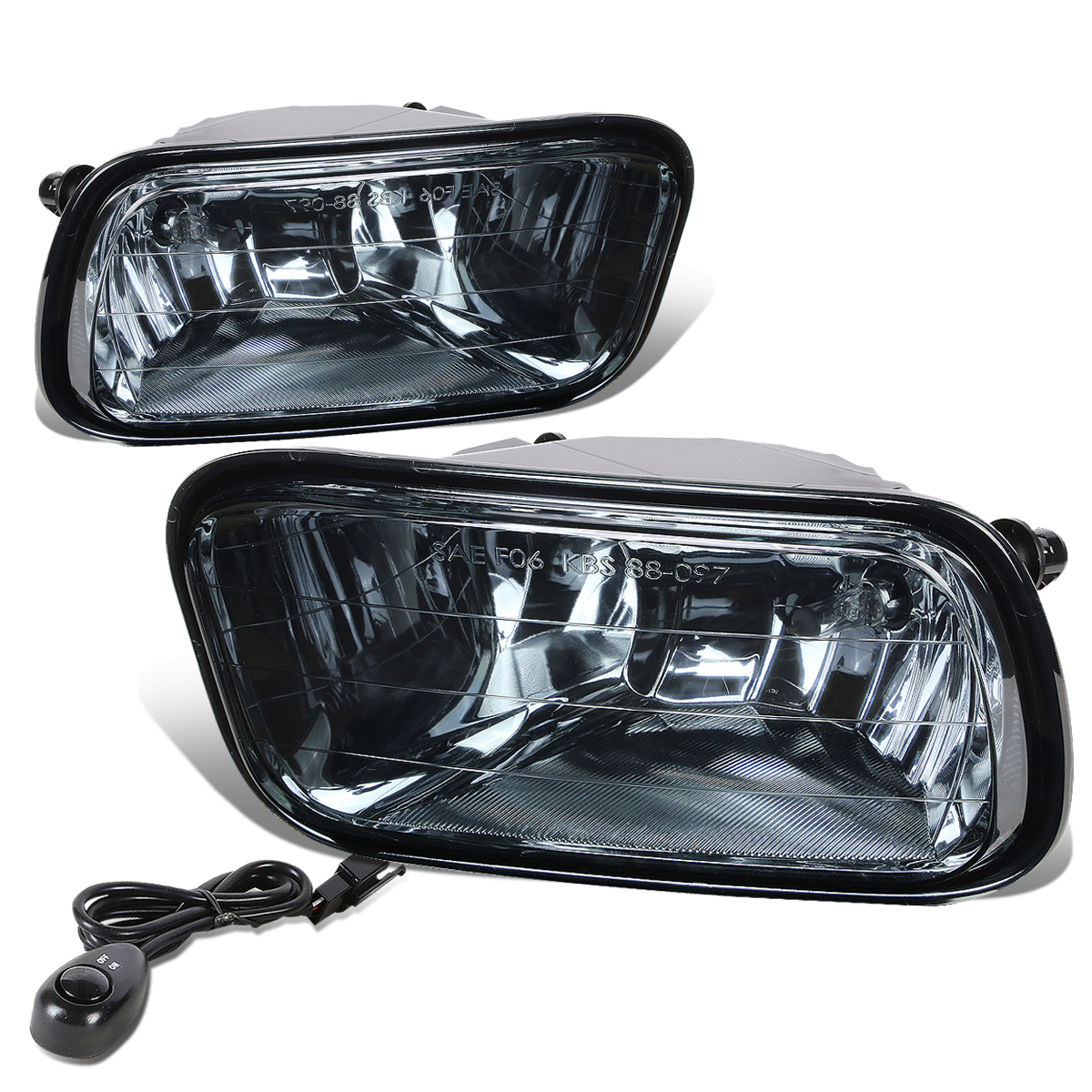 For 09-12 Dodge Ram DS / DJ Pair of Bumper Driving Fog Lights + Switch (Smoke Lens) 10 11
