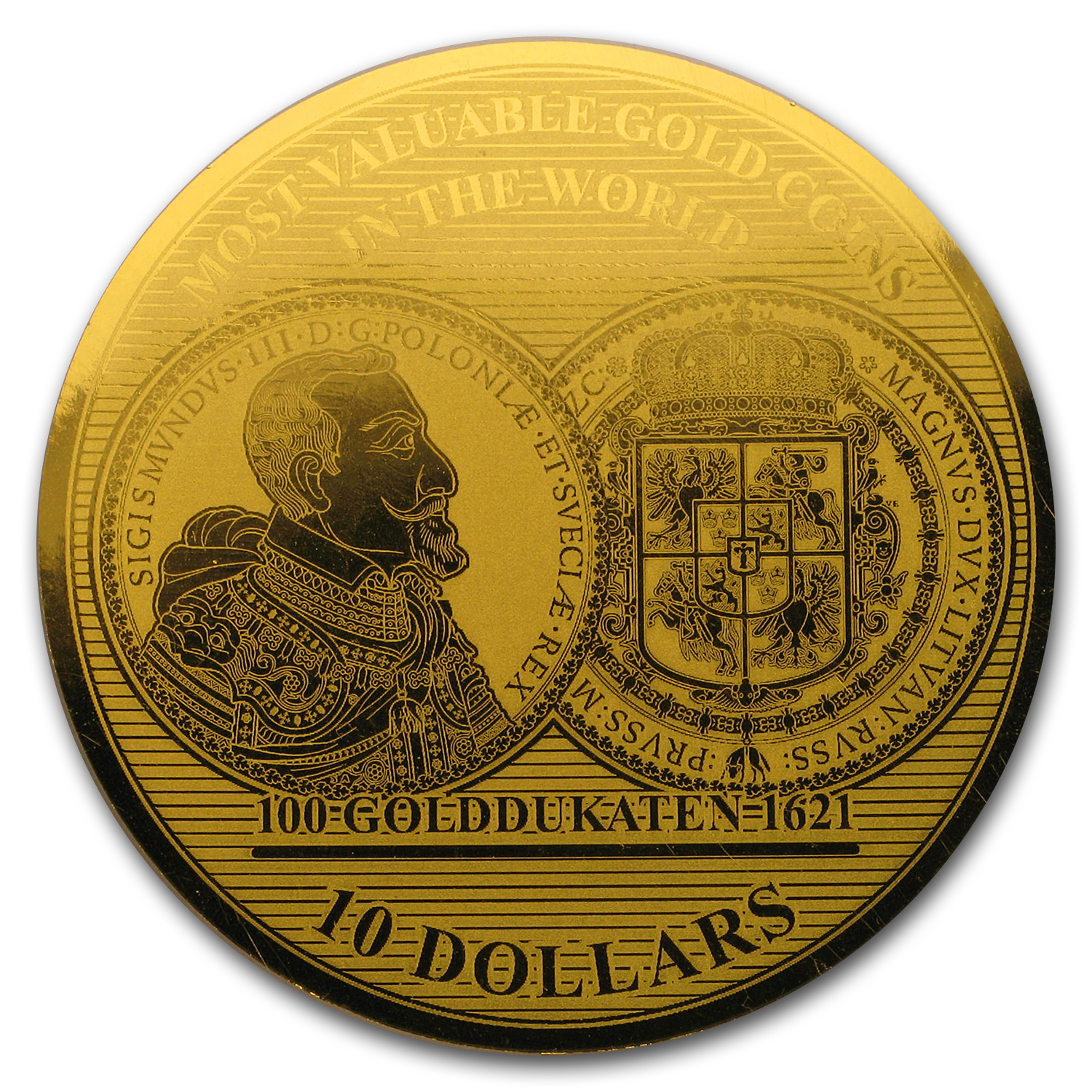2017 Solomon Isl. 1/100 oz Gold Million Dollar Collection: Poland