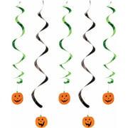 Pumpkin Faces Dizzy Danglers, 5-Pack