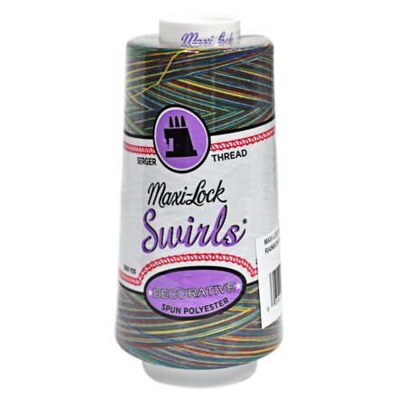 Maxi Lock Swirls Rainbow Swirl Serger Thread  - Rainbow Thread