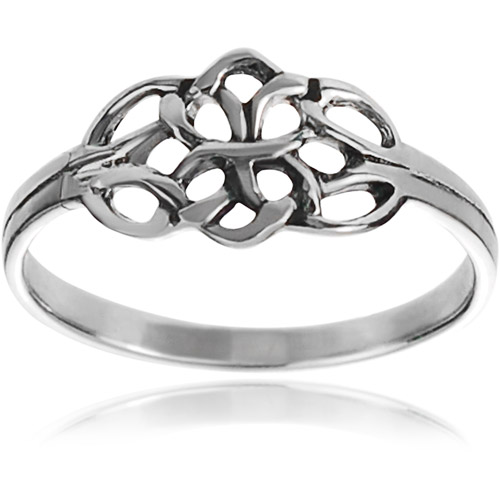 Brinley Co. Women's Sterling Silver Celtic Double Knot Ring