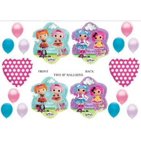 LalaLoopsy Happy Birthday Party Balloons Decorations Supplies for $<!---->