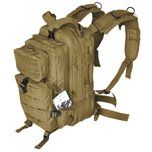 Every Day Carry Day Pack Backpack EDC MOLLE Tactical Assault Bag - Tan