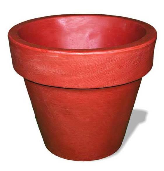 Modern Rimmed Pot in Terra Cotta (22 in. L x 22 in. W x 21 in. H (14 lbs.))
