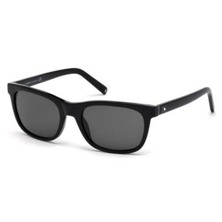 f9dab4bbcf Montblanc - MONTBLANC Sunglasses MB507S 01A Shiny Black 53MM - Walmart.com