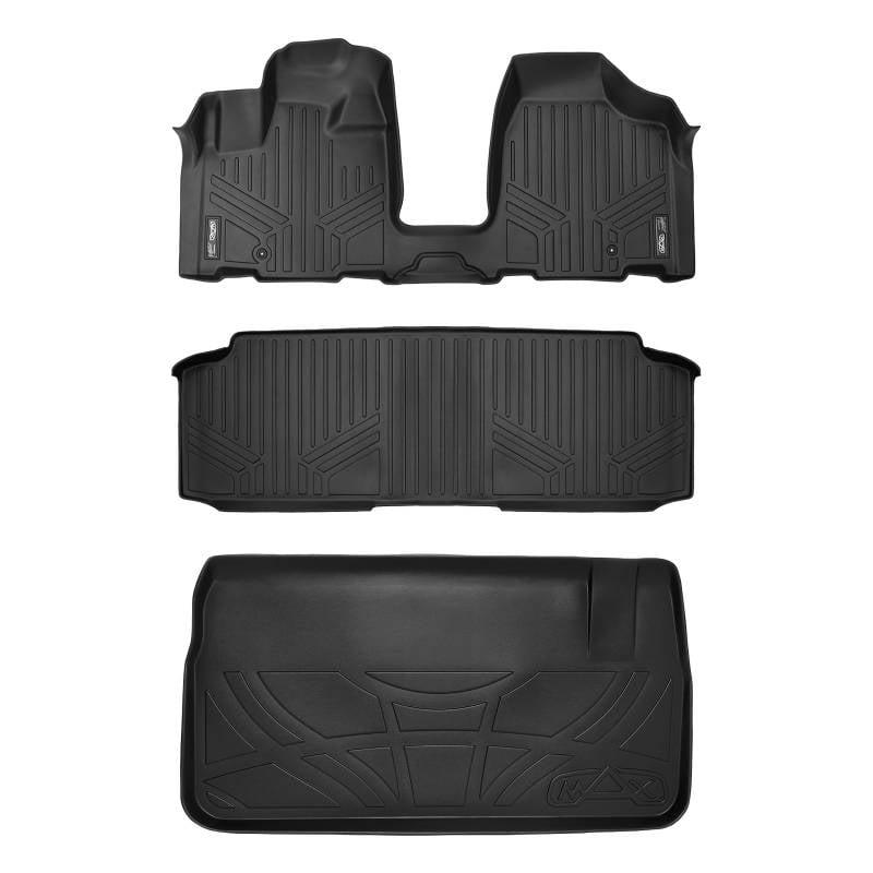 MAXLINER Floor Mats and Cargo Liner for Caravan Town Country Bench Seats Black