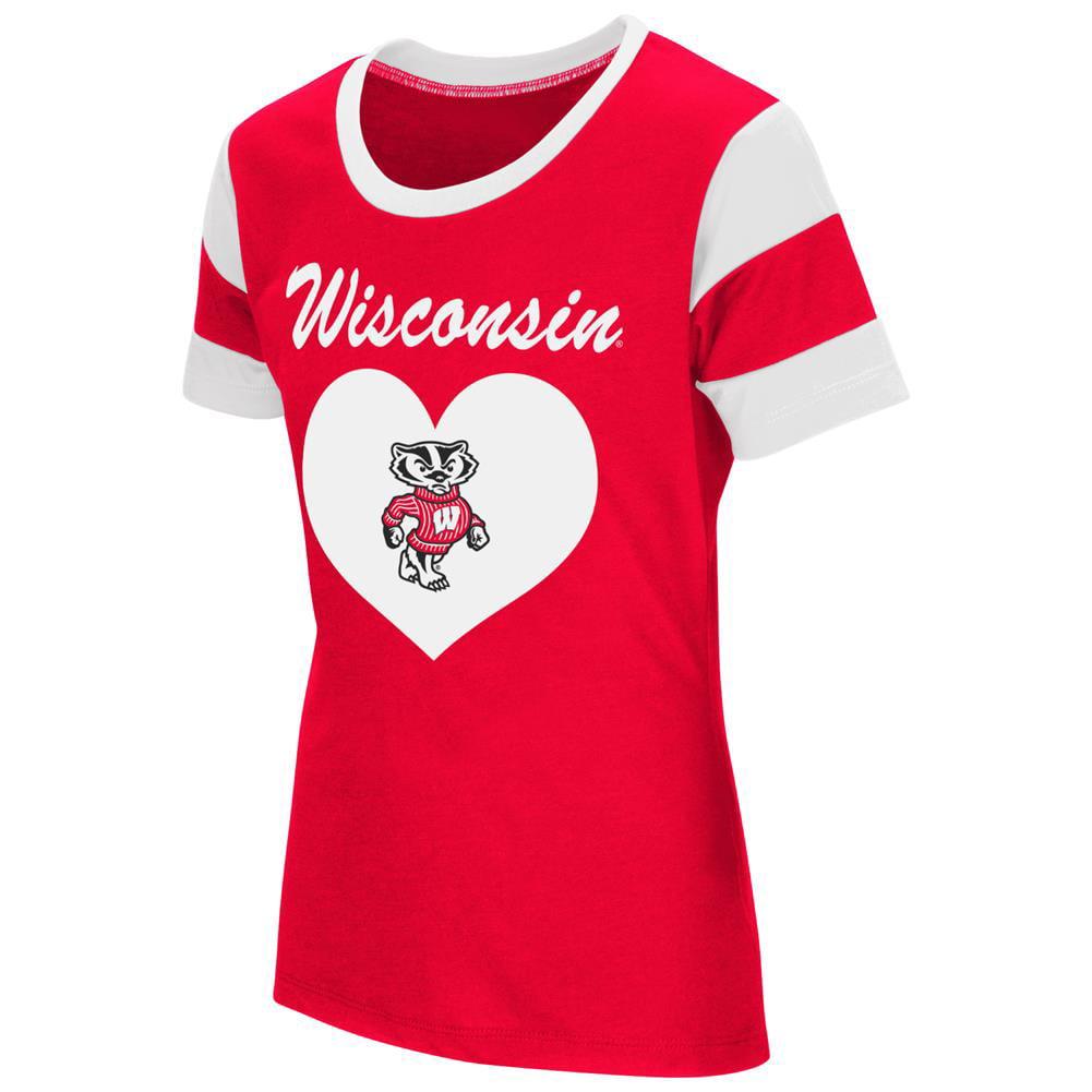 Youth Girls University of Wisconsin Badgers Short Sleeve T-Shirt