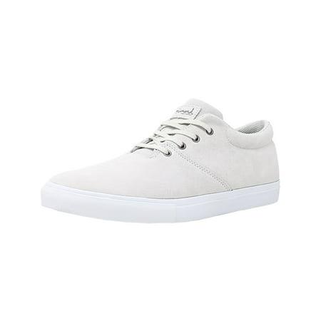 - Men's Torey White Ankle-High Leather Skateboarding Shoe - 10M