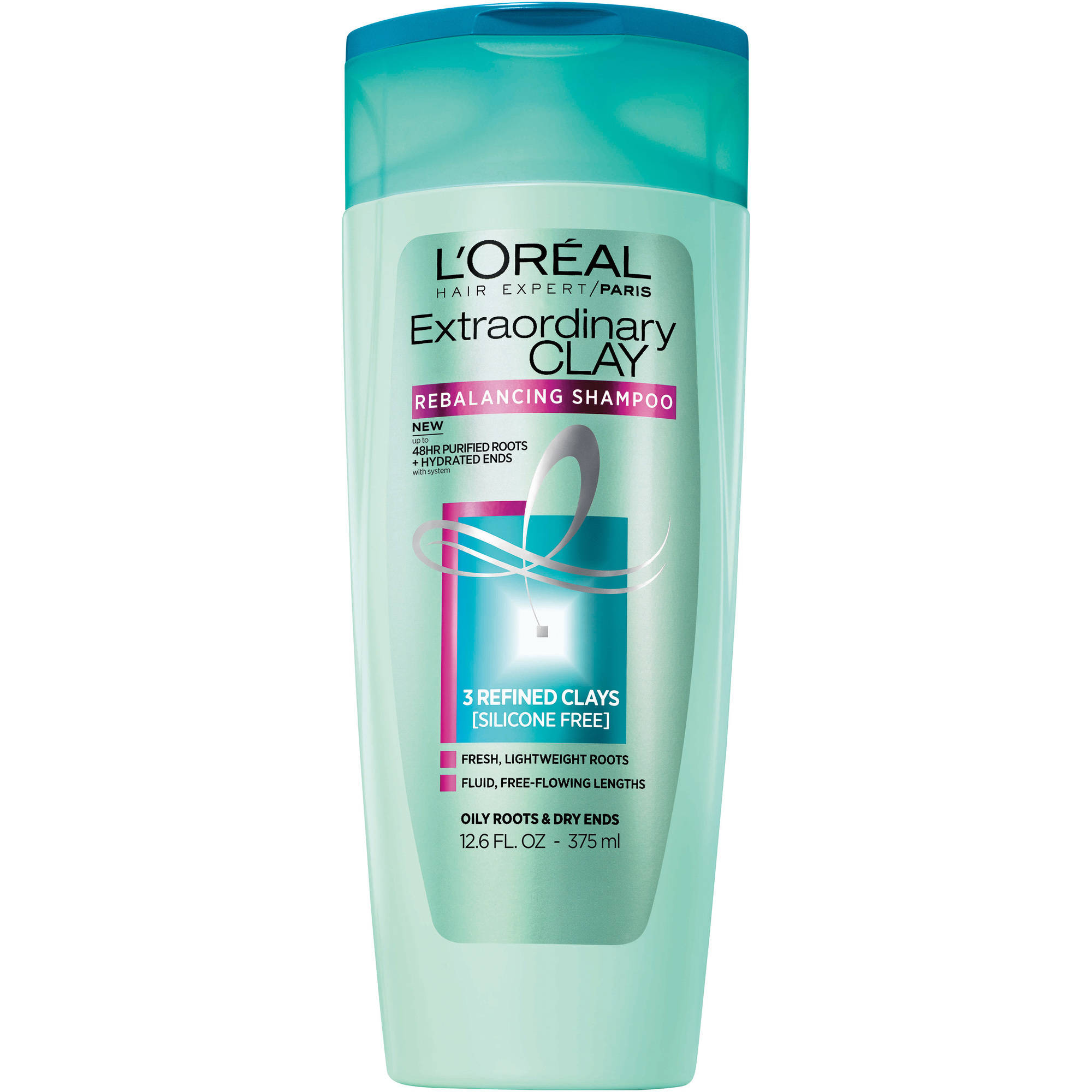 L'Oreal Paris Hair Expert Extraordinary Clay Shampoo, 12.6 fl oz - Walmart.com