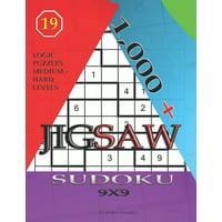 Jigsaw Sudoku: 1,000 + sudoku jigsaw 9x9: Logic puzzles medium - hard levels (Paperback)