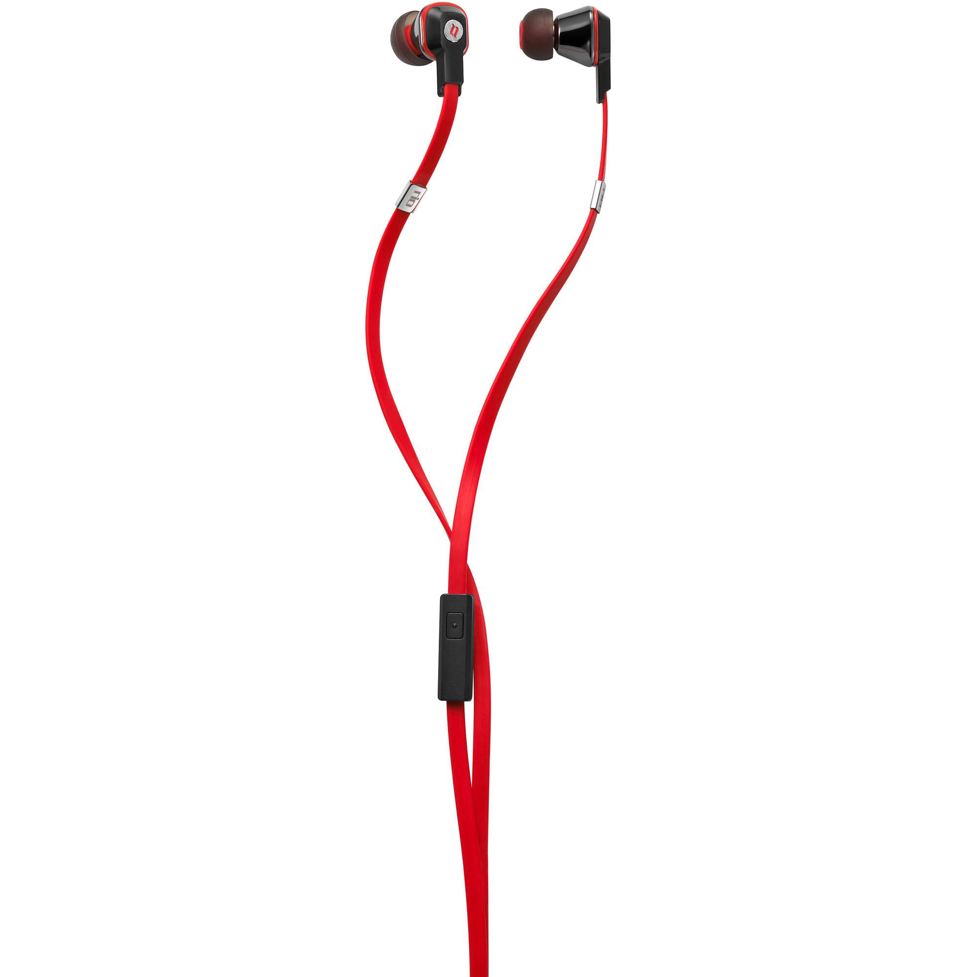 Noontec Rio Fashion In-Ear Headphones, Red