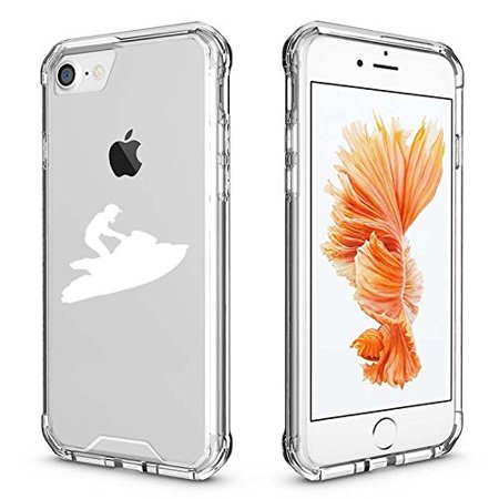 For Apple iPhone Clear Shockproof Bumper Case Hard Cover Jet Ski (White for iPhone 6 Plus/6s Plus) (Jets Iphone 6 Plus Case)